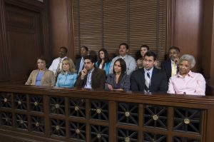 Jurors in court