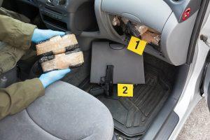 heroin hidden in car
