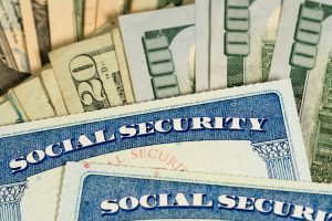 Money and social security cards