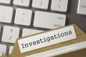 Investigations folder and computer keys