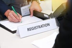 signing registration form