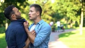 Man assaulting another