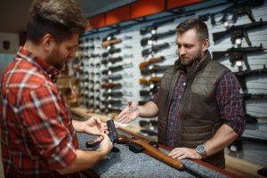 Man buying gun